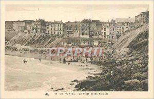 Old Postcard Le Portel The Beach and Cliffs