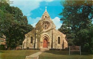 Davenport IA~Trinity Episcopal Catherdral~Bishops Church~Big Round Window~1950