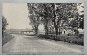 PERU , Indiana ,1910-20s ; Entrance to Circus Grounds