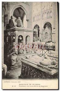 Old Postcard From Saint Denis Basilica Tomb of Louis XII and Dagobert