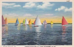 New Hampshire Greetings From Lake Sunapee 1951 Curteich