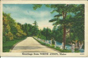 Greetings from North Anson, Maine