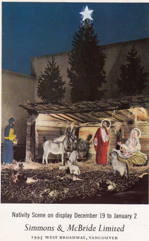 Vancouver , B.C. ,1950-60s ; Simmons & McBride Ltd Store , Nativity Scene