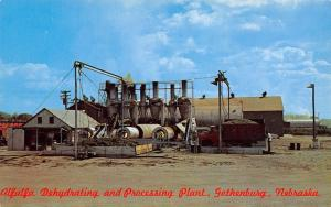 Gothenburg Nebraska~Alfalfa Dehydrating & Processing Plant~Dump Truck~1950s PC