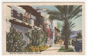 Hotel del Tahquitz Palm Springs California 1949 linen postcard