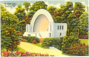 The Band Shell in City Park, Reading, Pennsylvania, PA, Linen