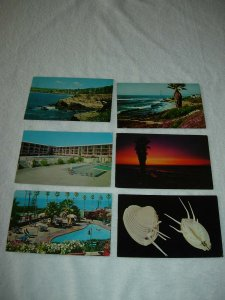 La Jolla CA - Lot Of 6 Great Vintage Postcards - x0345