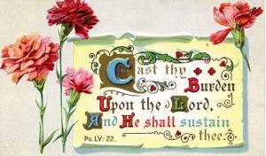 Greeting - Easter - Cast Thy Burden Upon the Lord