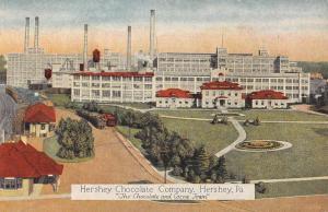 Hershey Pennsylvania Chocolate Company Birdseye View Antique Postcard K99960