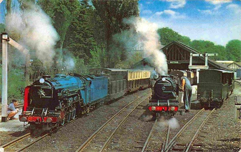 Miniature Railroad Trains RH&D Railway Hythe Kent UK postcard