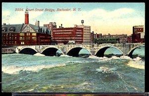 Court Street Bridge Rochester NY Interurban Railroad Car Several Factories