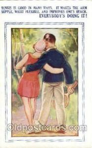 Bamforth, Mohegan Lake,N.Y., USA Tennis, Old Vintage Antique, Post Card Postc...