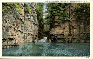 NY - Ausable Chasm. Coming through The Flume