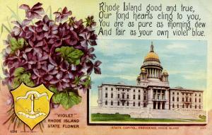State Flower & Capitol - Rhode Island, Violet