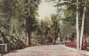 MISSOULA , Montana , 00-10s ; Entrance to Greenough Park