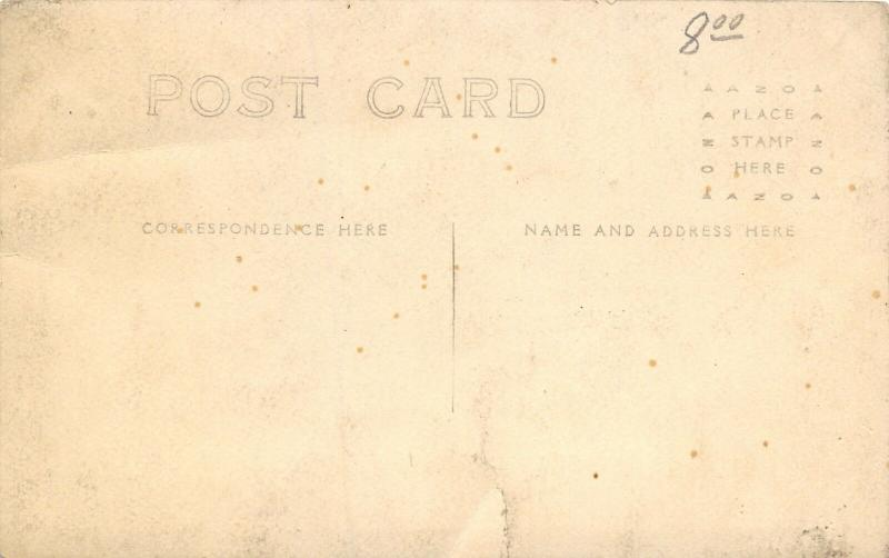 Real Photo Post Card~14 Players~Football Team~Coach~Hike Ball~Goal Posts~c1912