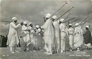 Addis Ababa Ethiopia the feast of Timcat epiphany 1956 real photo postcard