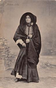 BR70546 maltese lady types folklore costumes malta
