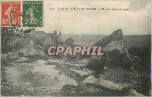 Postcard Old Forest of Fontainebleau Rock Saint Germain