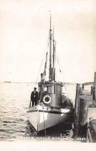 Casco Bay ME Steamer Grace Morgan RPPC Postcard