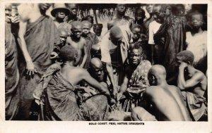 Ghana Gold Coast Peki Native Draughts RP Postcard