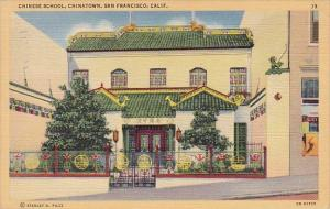 Chinese School Chinatown San Francisco California 1943