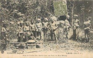 Laos Halte de Coolies khas Kouenes dans une Foret du Haut Mekong 03.76