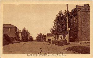 G6/ Junction City Ohio Postcard c1910 East Main Street Homes Store