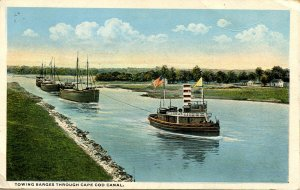 MA - Cape Cod. Towing Barges through Cape Cod Canal