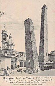 BOLOGNA ITALY~LE DUE TORRI 1911 PHOTO POSTCARD