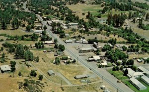 Hayfork, California - View of the city in Trinity County - c1950