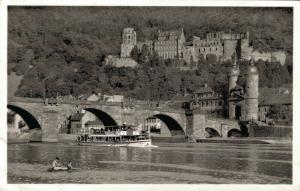 Germany Heidelberg Alte Neckarbrücke und schloss 02.67