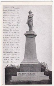 Colonel Seth Warner Monument Bennington Vermont