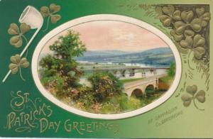 St Patricks Day Greetings - Bridges at Cappaquin, Ireland - DB