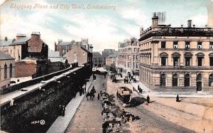 Shipquay Place and City Wall Londonderry United Kingdom, Great Britain, Engla...
