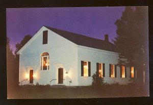 North Danville, Vermont/VT Postcard, Lamplight At Old North Church