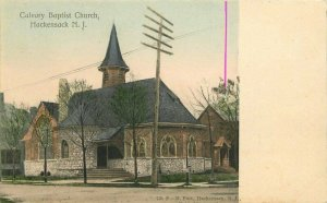 Hackensack New Jersey Calvary Baptist Church Fast #726 C-1905 Postcard 21-6005
