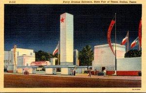 Texas Dallas Parry Avenue Entrance Texas State Fair Curteich