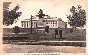 Memorial Musem & Burns Statue Auckland New Zealand Postal Used Unknown