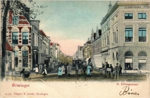 CPA GRONINGEN N. Ebbingestraat NETHERLANDS (604073)