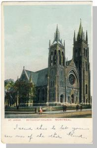 Montreal, Quebec, Canada Postcard, St James Methodist Church