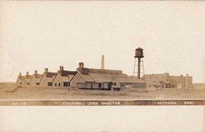 Altoona Kansas Cookerill Zink Smelter Real Photo Vintage Postcard JJ658711