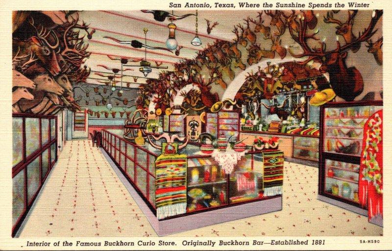 Texas San Antonio Buckhorn Curio Store Interior View Curteich