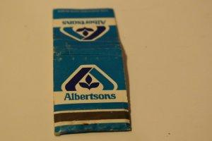 Albertsons Blue 20 Strike Matchbook Cover