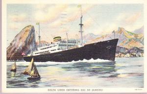 Delta Liner Entering Rio de Janeiro