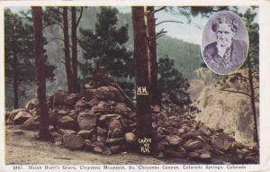 Helen Hunt's Grave on Cheyenne Mt - Colorado Springs CO, Colorado - pm 1940 - WB