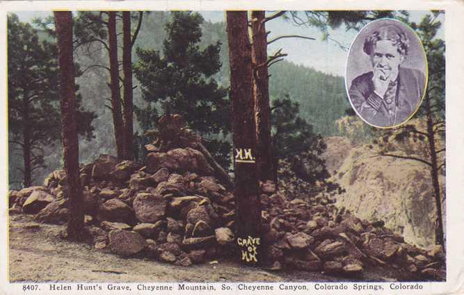 Helen Hunt's Grave on Cheyenne Mt - Colorado Springs CO, Colorado - pm 1940 - WB