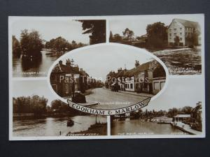 Berkshire COOKHAM & MARLOW 5 Image Multiview c1932 RP Postcard by Valentine