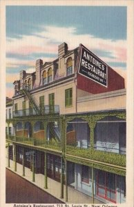 Antonies Restaurant 713 Saint Louis Saint New Orleans Louisianna