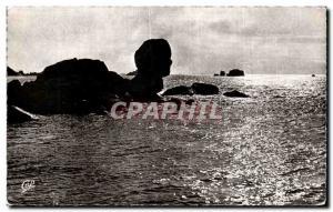 Old Postcard Roscoff bizarre Rocks Per Haridy Sphinx